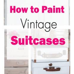 how to paint vintage suitcases collage with overlay