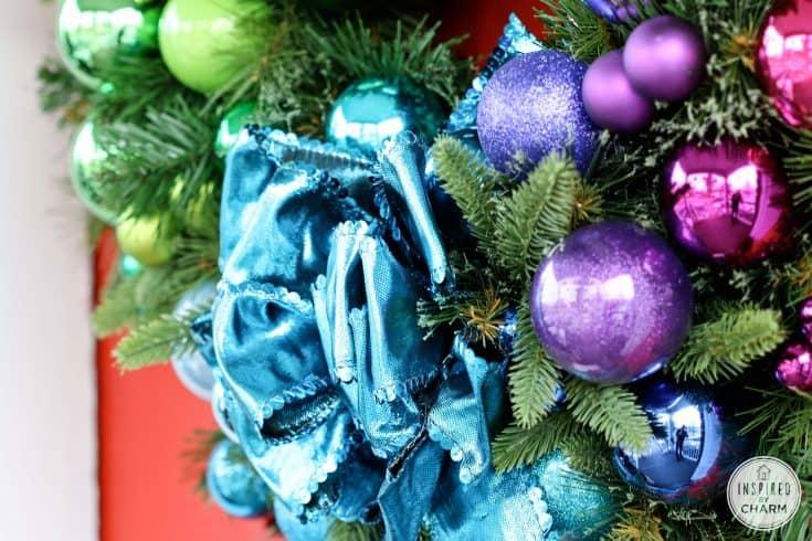 Gradient Rainbow Christmas Wreath