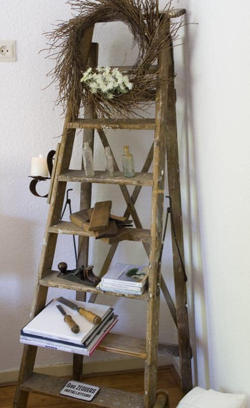 How to decorate with ladders three styles for Decor ladder