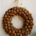 homemade walnut wreath