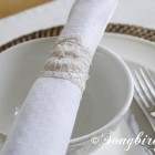 how to make stiffened lace napkin rings