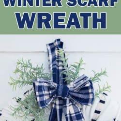 nautical winter scarf wreath