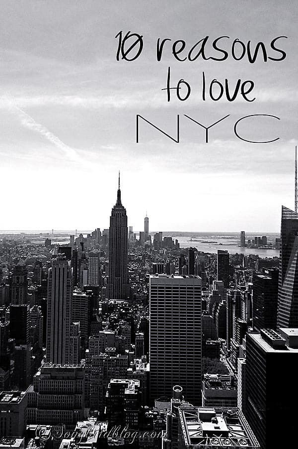NYC isn't the most famous city in the world for nothing. I have visited NYC as a tourist many times and today I share my top 10 reasons to love New York. www.songbirdblog.com