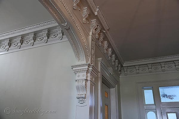 Nottoway plantation crown molding detail Baton Rouge