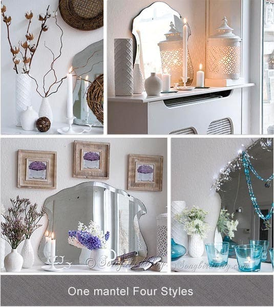 One mantel four decorating styles