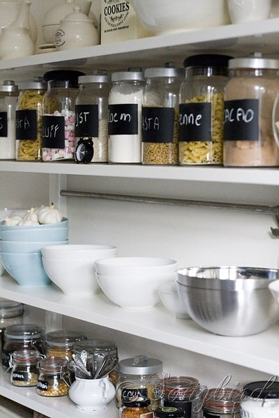 Open Shelving Storage Pots 2