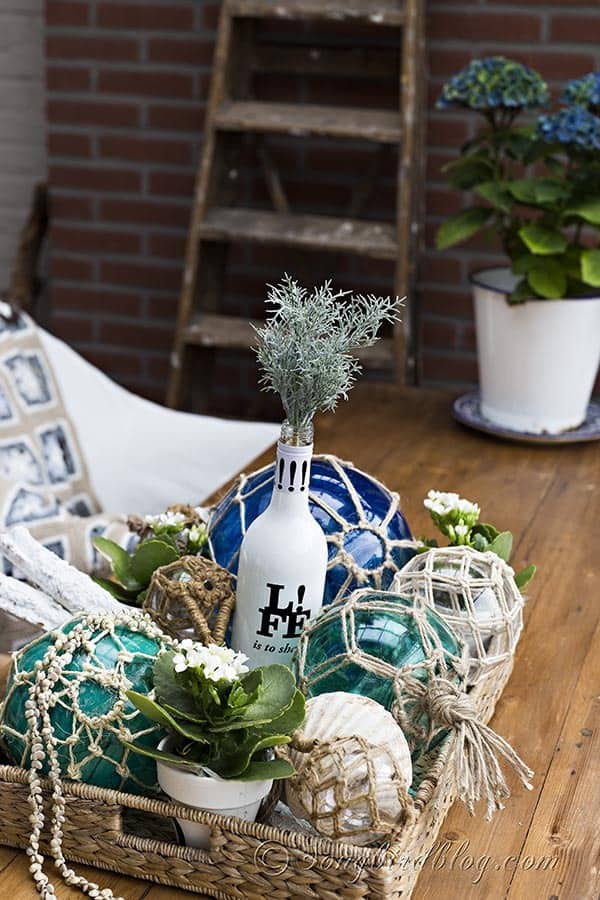 Glass Fishing Buoys Diy Pottery Barn Knockoff Songbird