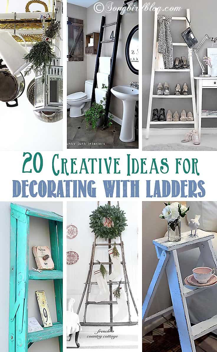 Pin 20 ideas for decorating with ladders