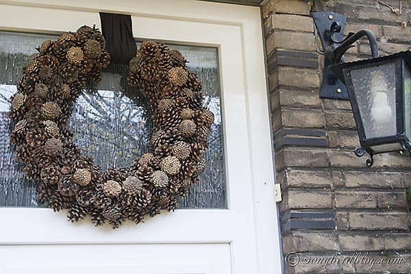 Pine Cone Wreath Fall