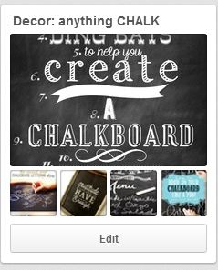 Pinterest board chalkboard inspiration