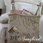chair makeover with vintage post bag