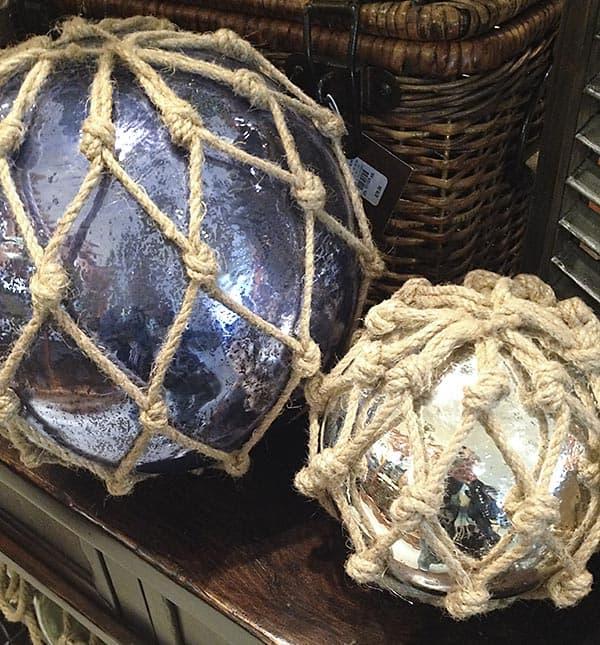 Pottery Barn Glass Buoys