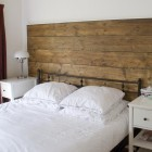 headboard out of repurposed upcycled wood