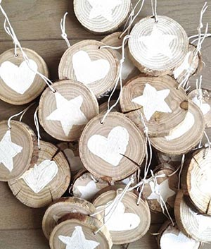 Rustic Christmas ornaments