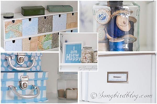 Sewing Supplies Craft room collage songbirdblog