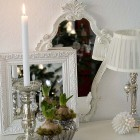 Songbird Christmas silver decoration display