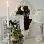 Silver and Mirrors Christmas Vignette ~ 12 Days of Christmas Decorations / Bonus Day