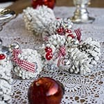 Painted Christmas Pinecone Garland from Songbirdblog.com