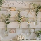 Songbird Summer Pallet Wood Mantel