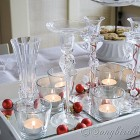 easy Christmas decorating idea for table with glass candles