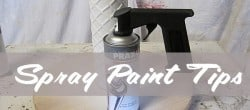 tips for spray painting