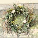 homemade twig wreath Spring