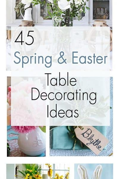 Spring and Easter tabletop ideas collage