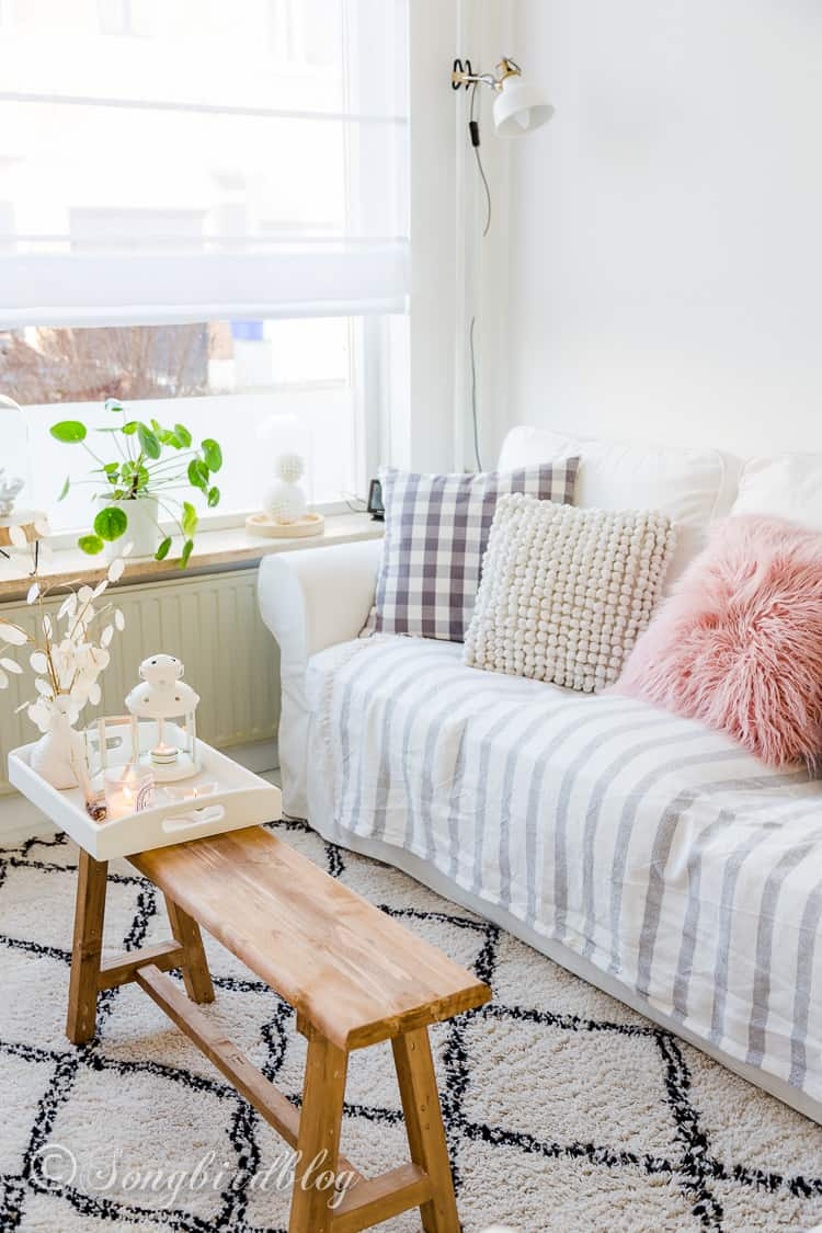 Spring Living Room Decor with a touch of beach - Songbird