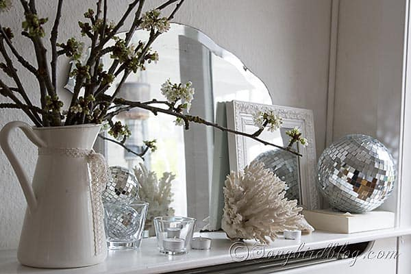 Spring mantel decoration disco ball 6