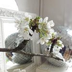 cherry blossom disco ball mantel decoration
