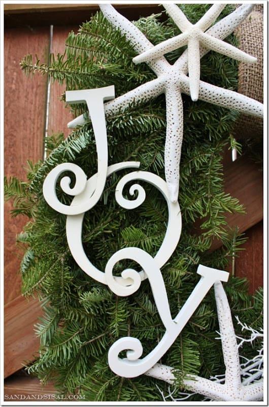 Share Some JOY - Create a Coastal Holiday Wreath ~ Sand and Sisal