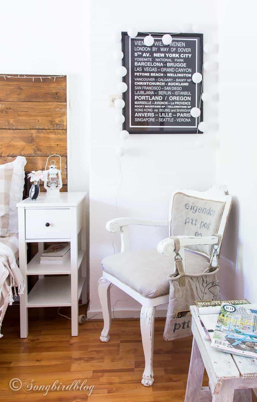 Chair in corner bedroom