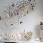 Summer mantel decoration beach theme