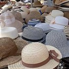 Summer hats at market Aubel thumb