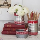 use tin cans as pretty containers for your office supplies (3)
