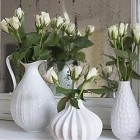 Thumb white mantel decoration with roses via Songbirdblog 5