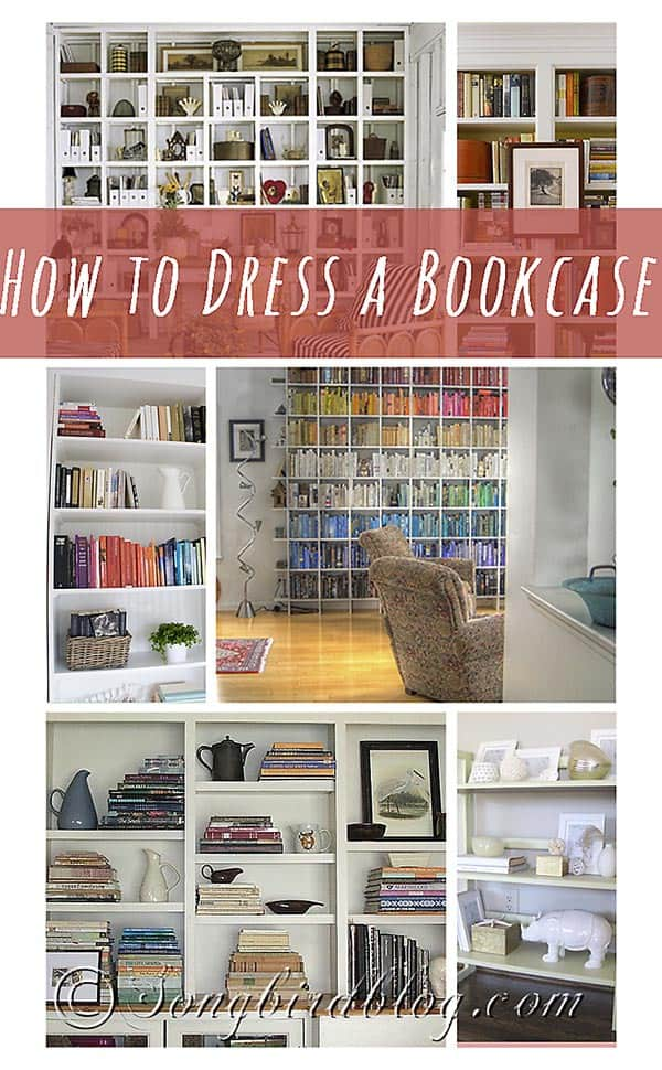 how to dress a bookcase