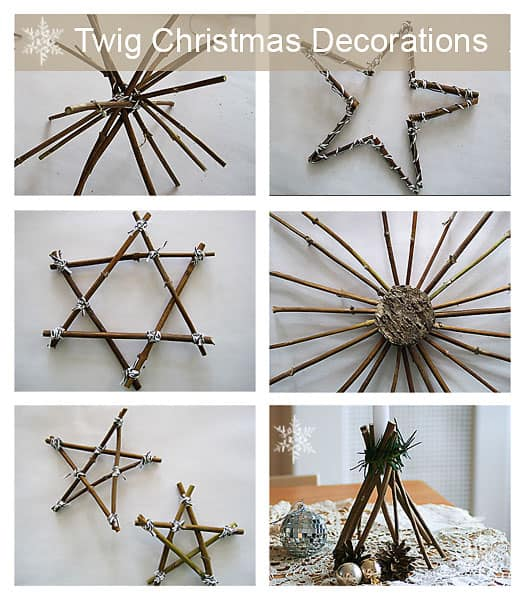 Twig Decor make your own twig christmas decorations