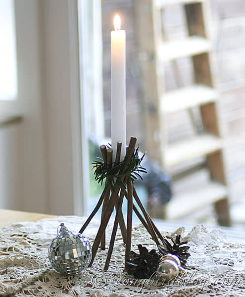 how to make stars and candle sticks for Christmas with twigs and natural elements (4)