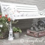 A little outdoor Vignette with a Vintage Bottle Crate