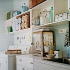 Laundry Room with Vintage Elements