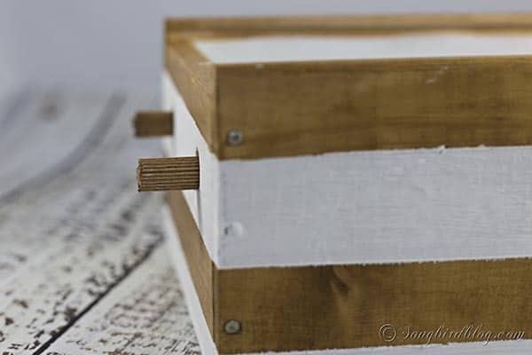 Washi Tape Organizer DIY from wine box