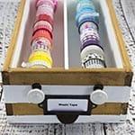 Washi Tape Organizer DIY
