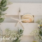 pallet wood summer mantel beach decor
