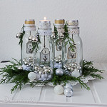 advent candles decoration with bottles 10