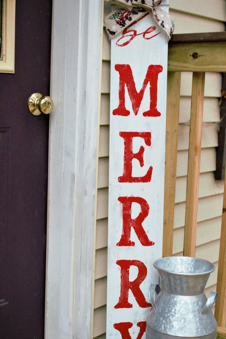 front door Christmas sign