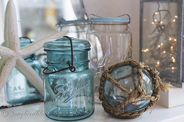 blue_mason_jar_beach_glass_float_decorating