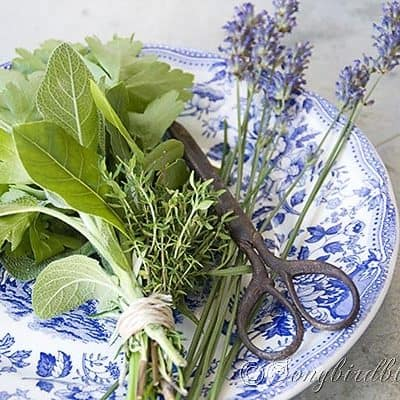 how to make a mixed herb bouquet for cooking