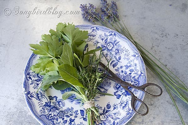 how to cut herbs for cooking