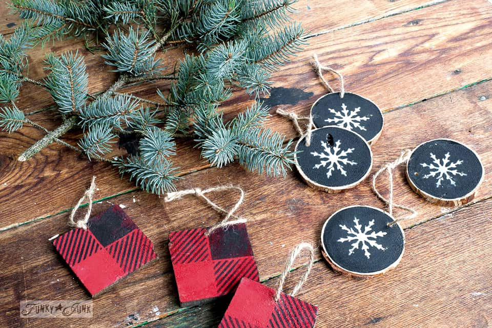 rustic wood ornaments